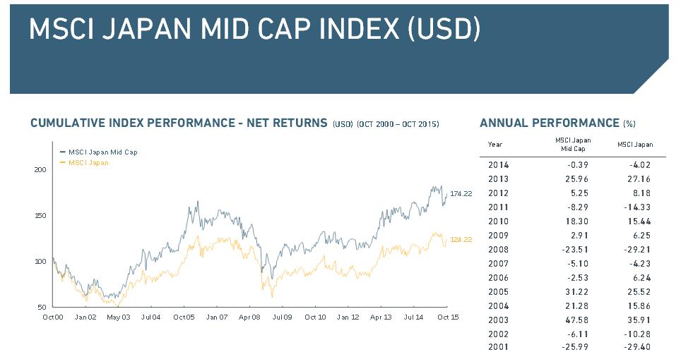 Überblick über den MSCI Japan Mid Cap Index