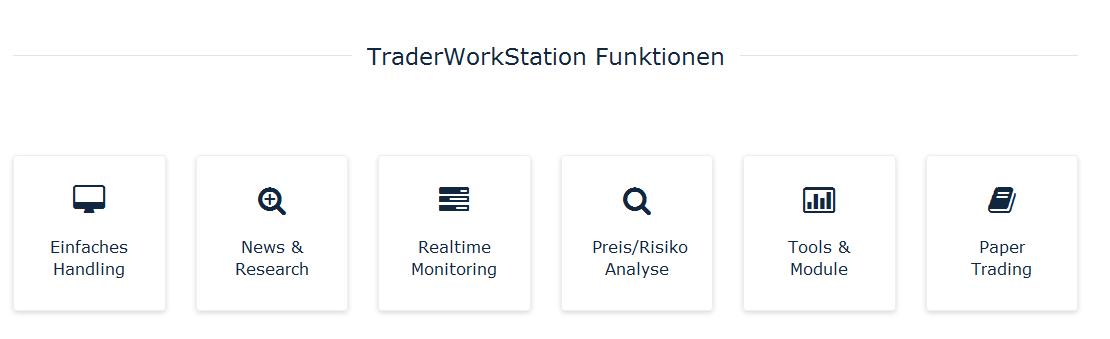 Bei BANX wird über die Trader Workstation gehandelt