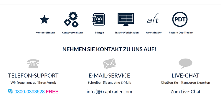 Die Serviceleistungen von CapTrader