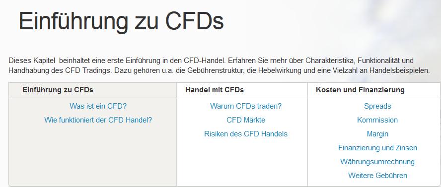 IG Einführung zu CFD's