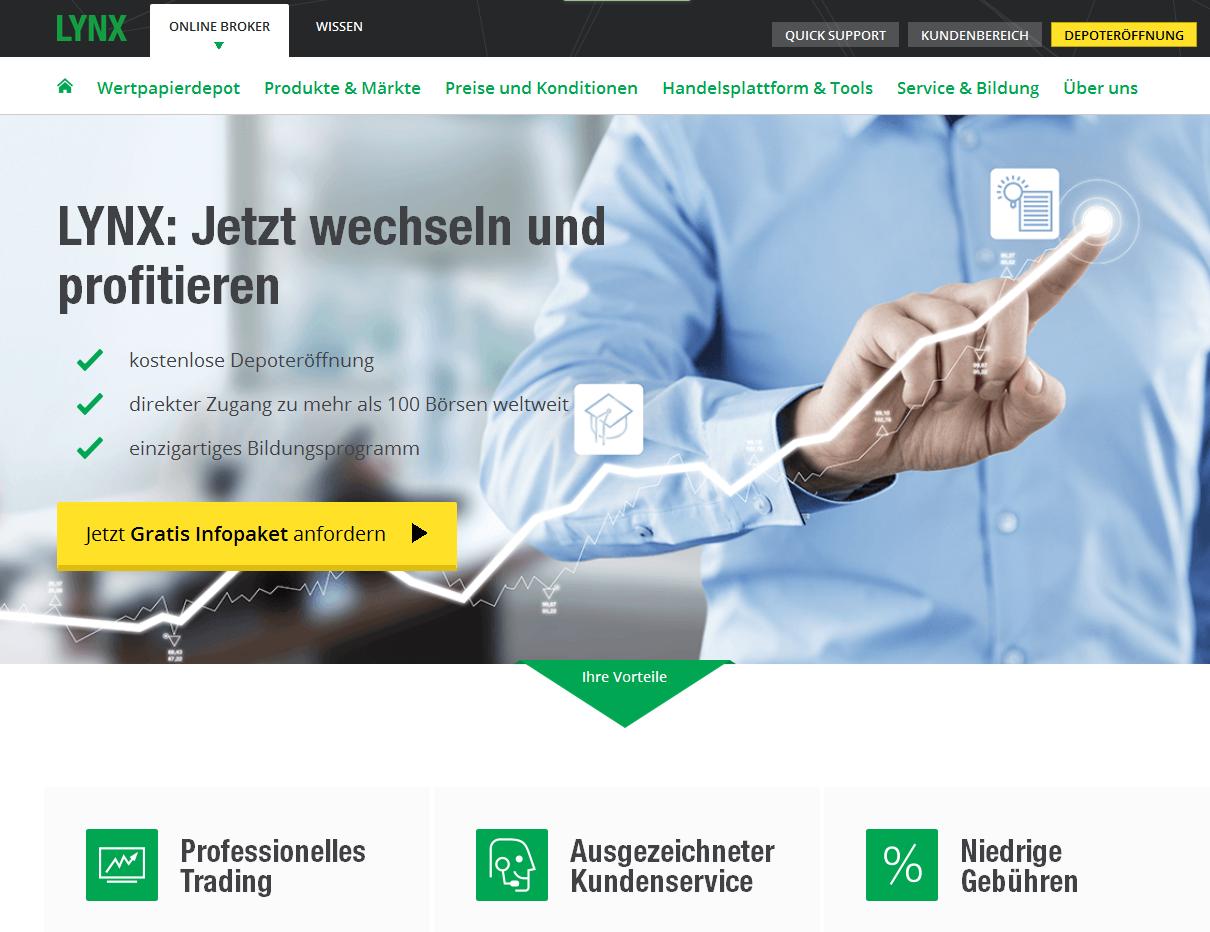 Die Webpräsenz von LYNX
