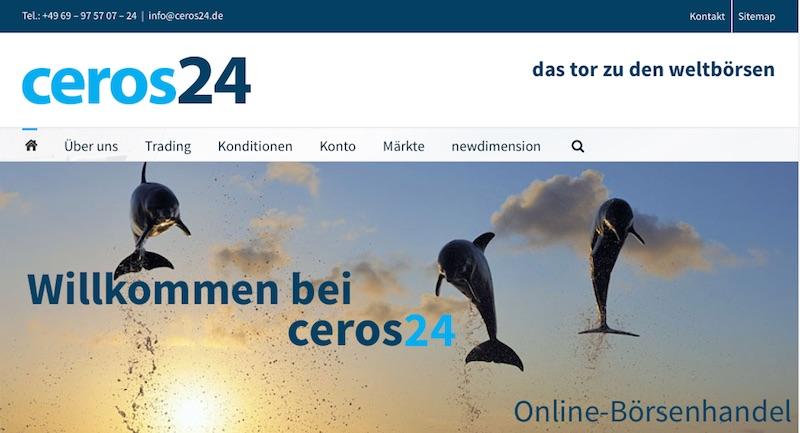 Die Webseite von ceros24