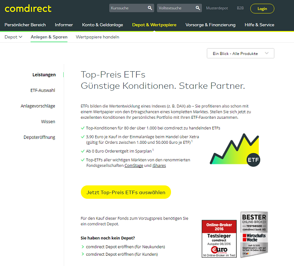 Comdirect Etf Aktion