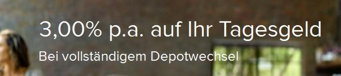Zinsaktion bei Consorsbank Depotwechsel