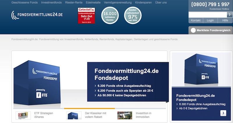 Online-Präsenz von Fondsvermittlung24.de