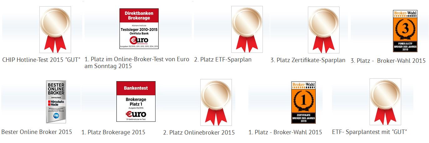 Zahlreiche Auszeichnungen bei der OnVista Bank