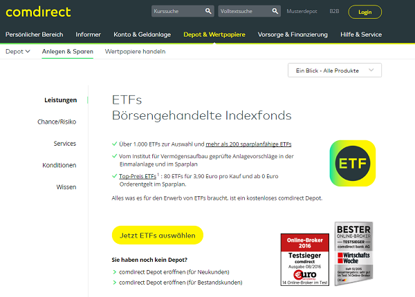Etfs Comdirect