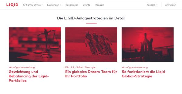 Bei Liqid sind unterschiedliche Anlagestrategien möglich