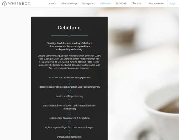 Whitebox bietet günstige Produkte und niedrige Gebühren