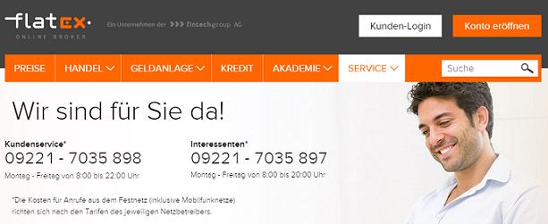 flatex Kundenservice