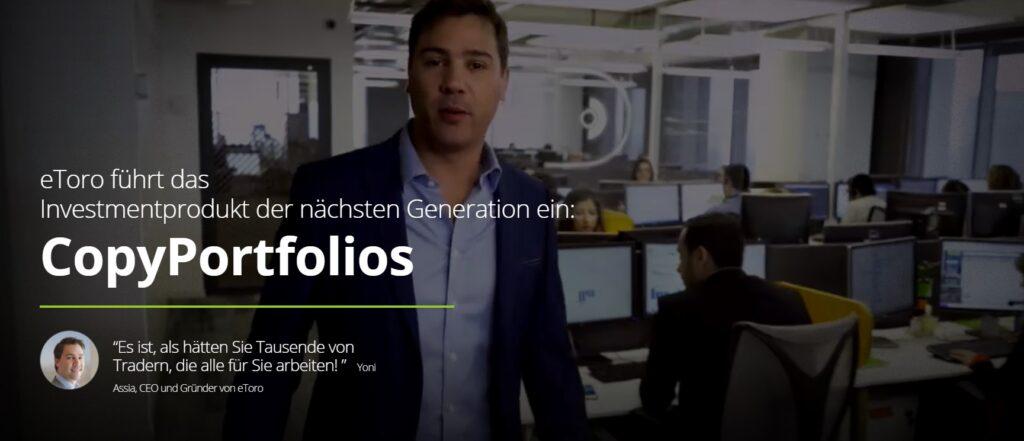 CopyPortfolios - Das Investmentprodukt des Brokers eToro