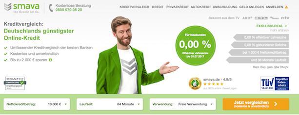 smava Webseite