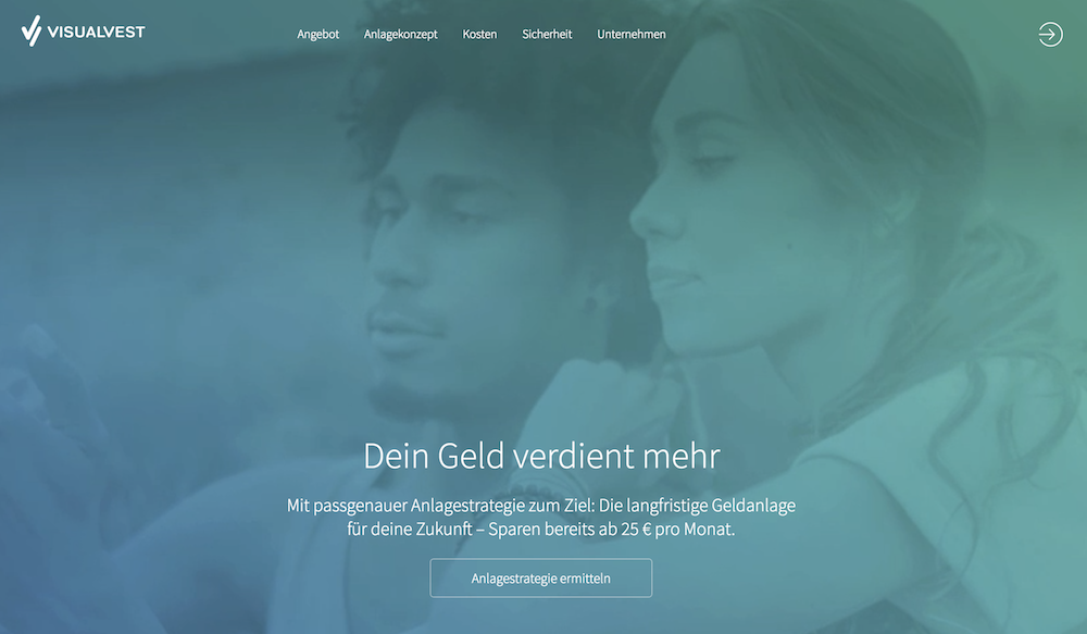 VisualVest Webseite