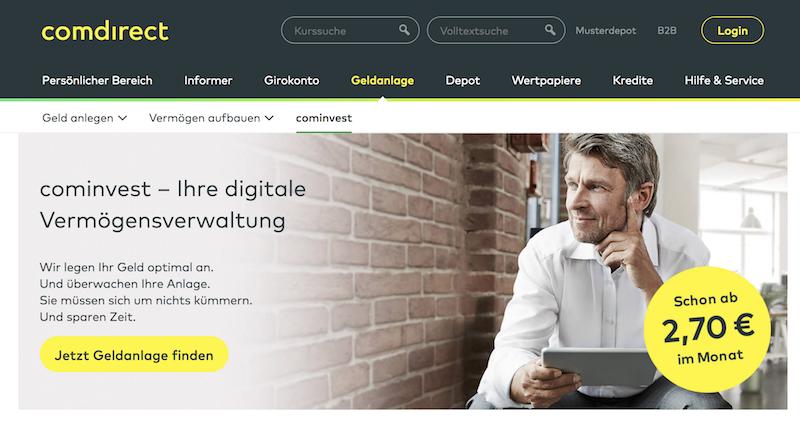 cominvest digitalen Anlageservice