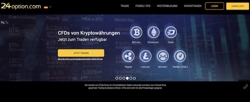 24option Webseite