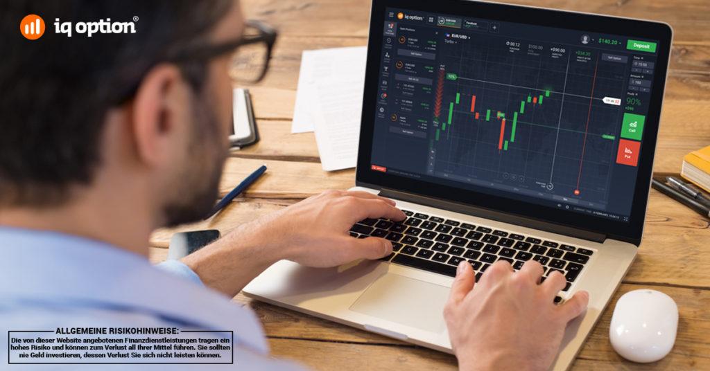 IQ Option Handel mit Kryptowährungen