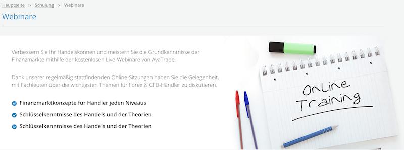 AvaTrade Webinare