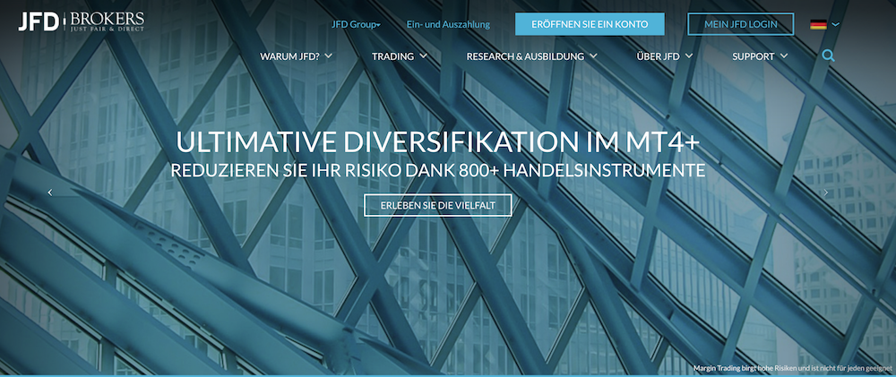 JFD Brokers Homepage