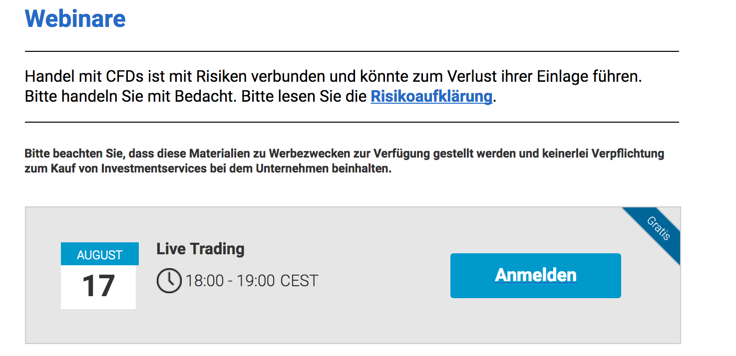 Markets.com Webinare