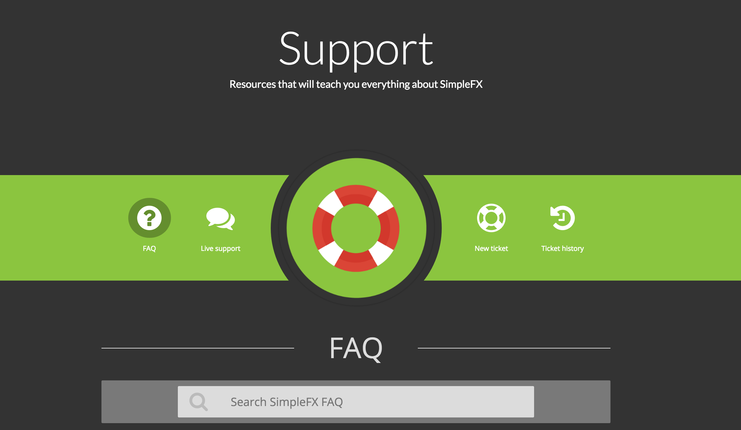 SimpleFX Support