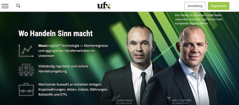 UFX Webseite