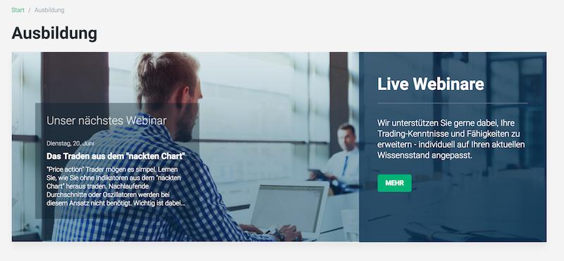 XTB Live-Webinare