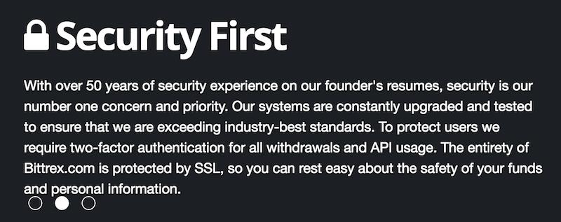 Bittrex Sicherheit