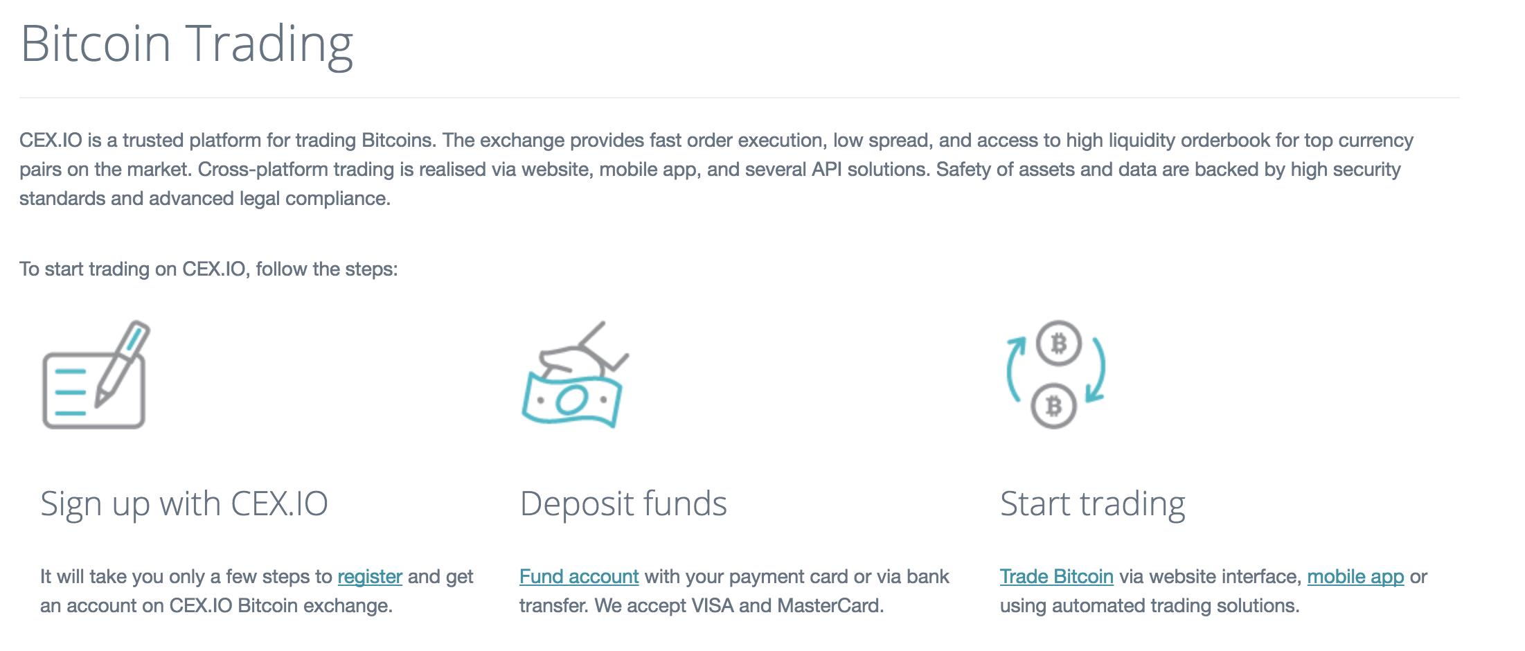 CEX.io Bitcoins handeln