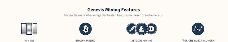 Genesis Mining Features