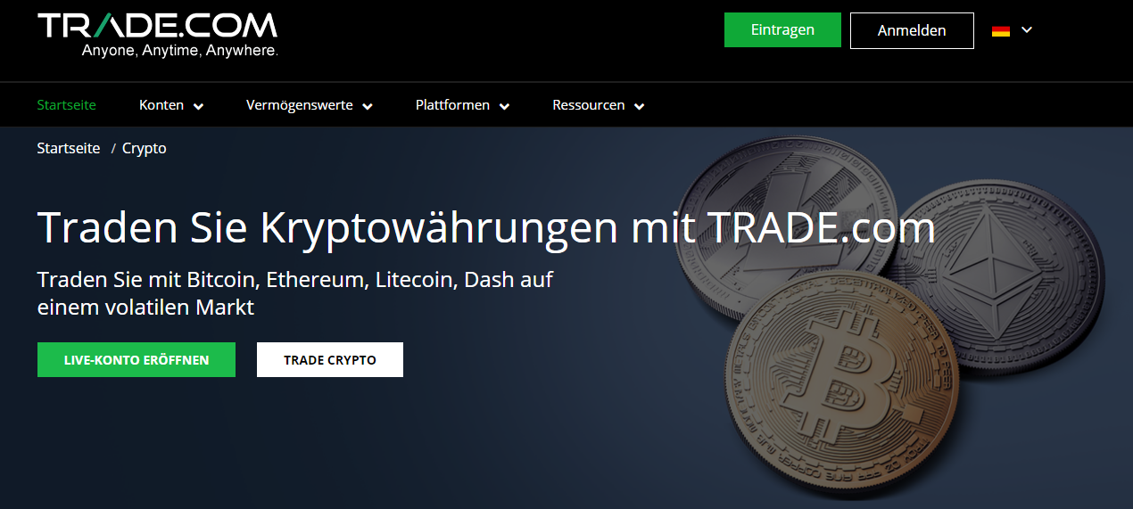 Trade.com Kryptowährung