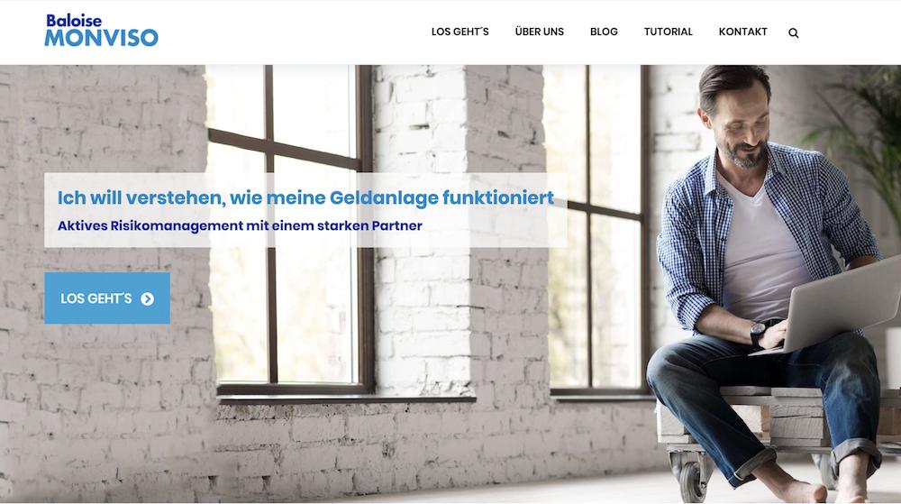 Baloise Monviso Webseite