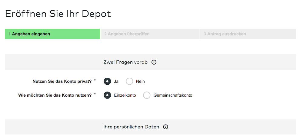 comdirect Depoteröffnung