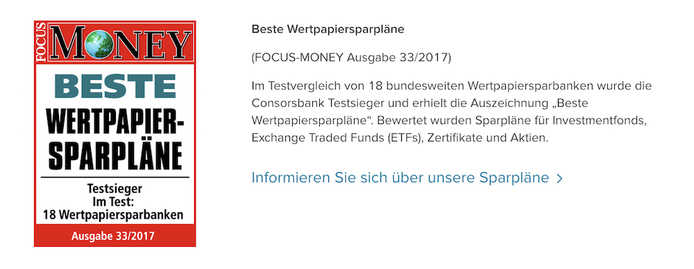 Consorsbank Auszeichnung
