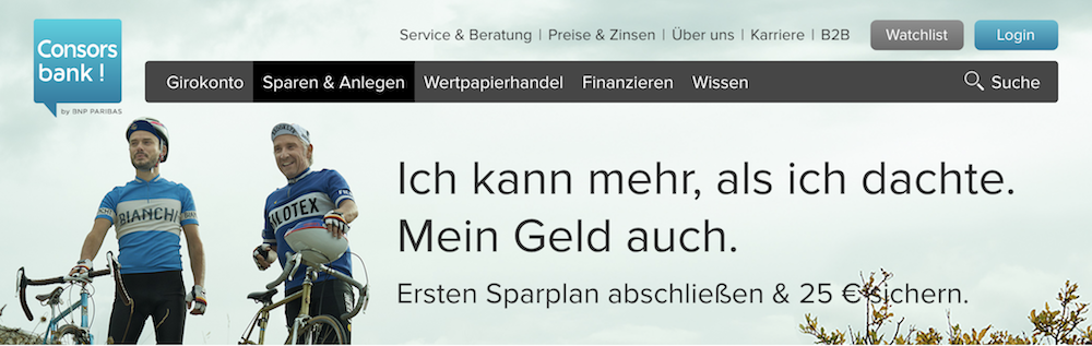 Consorsbank Wertpapier-Sparplan